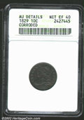 Bust Dimes: , 1829 10C Small 10C--Corroded--ANACS. AU Details, Net XF40....