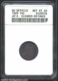 Bust Dimes: , 1829 10C Small 10C--Cleaned and Retoned--ANACS. AU Details, ...