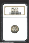 Barber Dimes: , 1906-O 10C MS66 NGC. Fully struck, and unusual as such ...