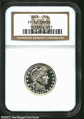 Proof Barber Quarters: , 1903 25C PR66 Cameo NGC. A spectacular white-on-black ...