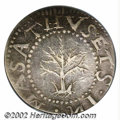 1652 SHILNG Oak Tree Shilling XF45 PCGS. Noe-14. 69.4 grains. This is an aesthetically pleasing survivor of the Spiny Tr...