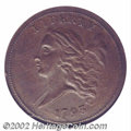 Half Cents: , 1793 1/2 C AU58 NGC. B-2, C-2, R.3. Even brown patina and ...