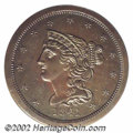 Proof Braided Hair Half Cents: , 1841 1/2 C Original PR63 Brown PCGS. B-1, R.6. Die State ...