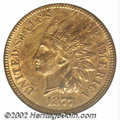 1877 1C MS62 Red and Brown ANACS. Only 852,500 pieces were struck of this date. That low mintage coupled with a low surv...
