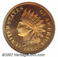 Proof Indian Cents: , 1862 1C PR66 PCGS. We do not know exactly how many proof ...