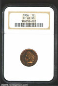 Proof Indian Cents: , 1906 1C PR65 Red NGC. The otherwise rich, cherry-red ...