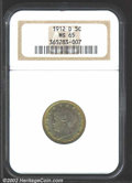 Liberty Nickels: , 1912-D 5C MS65 NGC. A lovely example for the toning ...