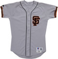 Baseball Collectibles:Uniforms, 1993 Bill Swift Game Worn Jersey. After petering out with the Seattle Mariners, Bill Swift revitalized his career when he w...