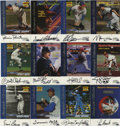 """Autographs:Sports Cards, Fleer """"Sports Illustrated"""" Greats of the Game Signed Cards Group Lot of 12. Sports Illustrated collaborated with the Fl..."""