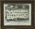 Baseball Collectibles:Photos, 1914 Boston Braves World Champions Team Photograph. Afterdemolishing the National League by finishing a hefty 10.5 gamesa...