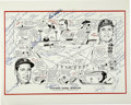 Baseball Collectibles:Others, Boston Red Sox Greats Multi-Signed Print. Several integral playerswho have played a key role in the formation of the stori...