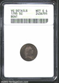 Early Half Dimes: , 1795 H10C--Bent--ANACS. VG Details, Net Good 4. LM-5, R.6....