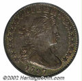 1797 H10C 16 Stars AU55 PCGS. V-4, LM-2, R.4. Dark gray surfaces with brighter undertones. Touches of wear on the eagle'...