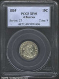 Early Dimes: , 1805 10C 4 Berries XF40 PCGS. JR-2, R.2. Pale gray ...
