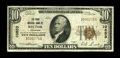 National Bank Notes:Arkansas, Rector, AR - $10 1929 Ty. 1 The First NB Ch. # 10853. A just plain scarce bank which had a miniscule small size issue be...