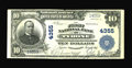National Bank Notes:Pennsylvania, Tyrone, PA - $10 1902 Plain Back Fr. 627 The First NB Ch. # 4355.Extremely Fine, but with a separation beginning at...