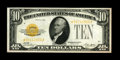 Small Size:Gold Certificates, Fr. 2400* $10 1928 Gold Certificate. Extremely Fine.. This replacement note appears at first glance to be a higher grade, bu...
