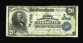 National Bank Notes:Maryland, Hampstead, MD - $20 1902 Date Back Fr. 645 The First NB Ch. #(E)9755. An excessively rare large size note from this Car...