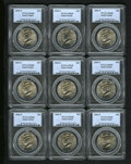 Kennedy Half Dollars: , (9)2005-P 50C Satin Finish MS68 PCGS.... (Total: 9 Coins)