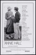 "Movie Posters:Academy Award Winner, Annie Hall (United Artists, 1977). One Sheet (27"" X 41""). Comedy. Starring Woody Allen, Diane Keaton, Tony Roberts and Carol..."