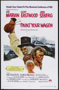 "Movie Posters:Musical, Paint Your Wagon (Paramount, 1969). One Sheet (27"" X 41"") and Program (Multiple Pages). Musical Comedy. Starring Clint Eastw..."