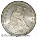 Seated Quarters: , 1863 25C MS65 PCGS. Briggs 1-A. The Philadelphia Mint's ...