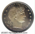 Proof Barber Quarters: , 1896 25C PR67 Cameo PCGS. This is among the more visually ...