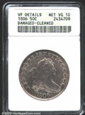 Early Half Dollars: , 1806 50C Pointed 6, Stem--Damaged, Cleaned--ANACS. VF ...