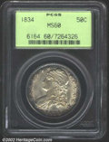 Bust Half Dollars: , 1834 50C Large Date, Large Letters MS60 PCGS. O-103, R.2. ...
