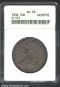 Bust Half Dollars: , 1834 50C Small Date, Small Letters AU50 ANACS. O-121, ...