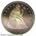 Proof Seated Dollars: , 1859 $1 PR67 NGC. Ex: P. Kaufman. This coin was struck ...