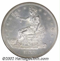 1873 T$1 MS64 NGC. The present sale notwithstanding, the 1873-P is a noteworthy condition rarity in grades above the BU...