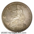 1873-CC T$1 MS61 NGC. The Carson City Mint inaugurated Trade Dollar production in 1873 with a rather stingy delivery of...