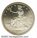 """1879 T$1 PR64 NGC. This coin was struck from Bowers' """"First Variety,"""" with an imperfect 8 in the date and the..."""