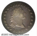 1795 $1 Flowing Hair, Two Leaves XF45 ICG. B-1, BB-21, R.2. Die State I. This is the second most common variety for 1795...
