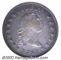 1795 $1 Flowing Hair, Three Leaves XF45 NGC. B-7, BB-18, R.3. Die State I. This is the only reverse die with 14 berries...