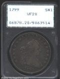 Early Dollars: , 1799 $1 VF20 PCGS. B-8, BB-165, R.2. Darkly toned at the ...