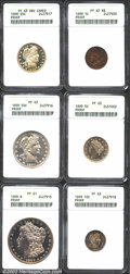 Early Proof Sets: , 1899 Proof Set ANACS Certified. Included are: