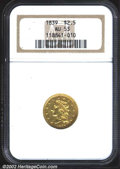 Classic Quarter Eagles: , 1839 $2 1/2 AU53 NGC. Nicely struck and relatively clean ...
