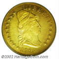 Early Eagles: , 1795 $10 13 Leaves AU55 PCGS. B. 2-A, Taraszka-2, R.4. ...