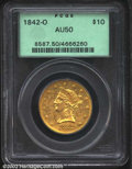 Liberty Eagles: , 1842-O $10 AU50 PCGS. The 1842-O is a difficult early New ...