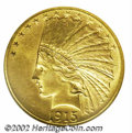 Indian Eagles: , 1915-S $10 MS62 NGC. Fully struck with subdued mint ...