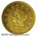 Territorial Gold: , 1855 $50 Wass Molitor Fifty Dollar VF25 PCGS. K-9, R.5. ...