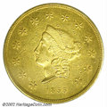 Territorial Gold: , 1855 $50 Wass Molitor Fifty Dollar XF40 PCGS. K-9, R.5. A ...