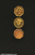 California Fractional Gold: , 1871 25C Liberty Octagonal 25 Cents, BG-770, R.6, AU50 ...