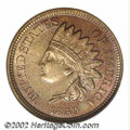 Patterns: , 1859 Indian Cent, Judd-228, Pollock-272, R.1, MS64 NGC....