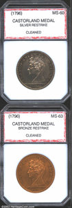 Additional Certified Coins: , 1796 Castorland Medal Restrike, Silver MS60 Cleaned PCI (...