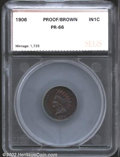 Additional Certified Coins: , 1906 1C Cent PR66 Brown SEGS. A pleasing, high grade ...