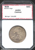 Additional Certified Coins: , 1838 50C Half Dollar AU55 Cleaned PCI (XF40). Dove-gray ...