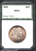 Additional Certified Coins: , 1892 Half Dollar MS63 Hallmark (MS62). Attractive rose-...